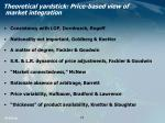 theoretical yardstick price based view of market integration