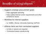 benefits of using estores