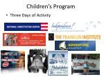 children s program