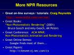 more npr resources