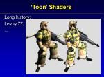 toon shaders