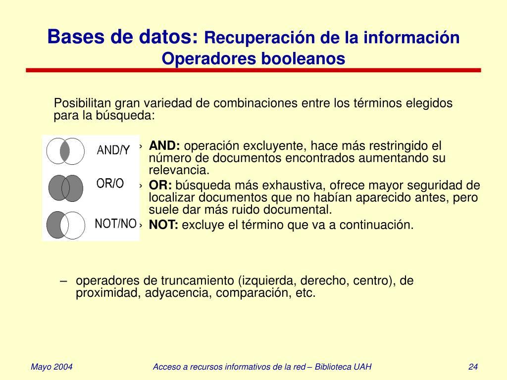 Bases de datos: