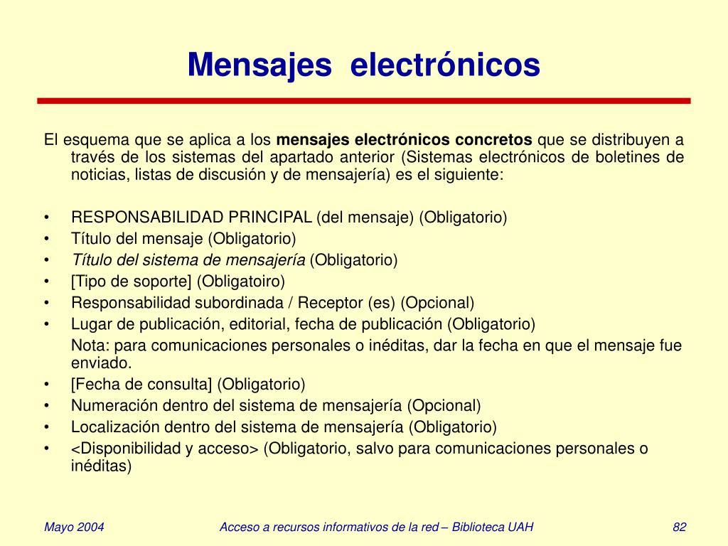 Mensajes  electrónicos