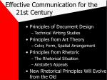 effective communication for the 21st century