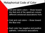 metaphorical code of color