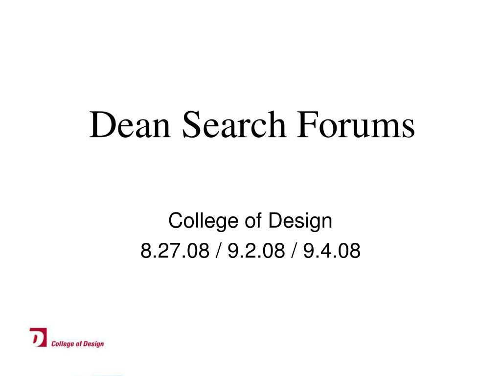 dean search forums l.