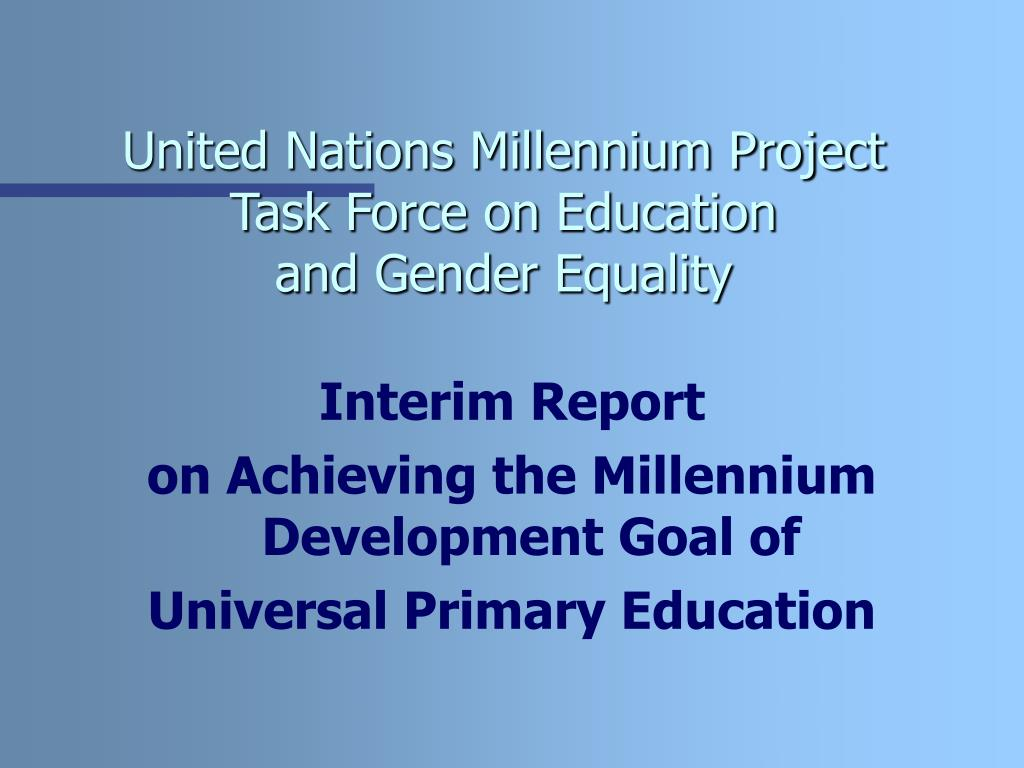 United Nations Millennium Project Task Force on Education