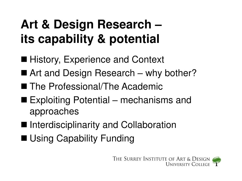 art design research its capability potential l.