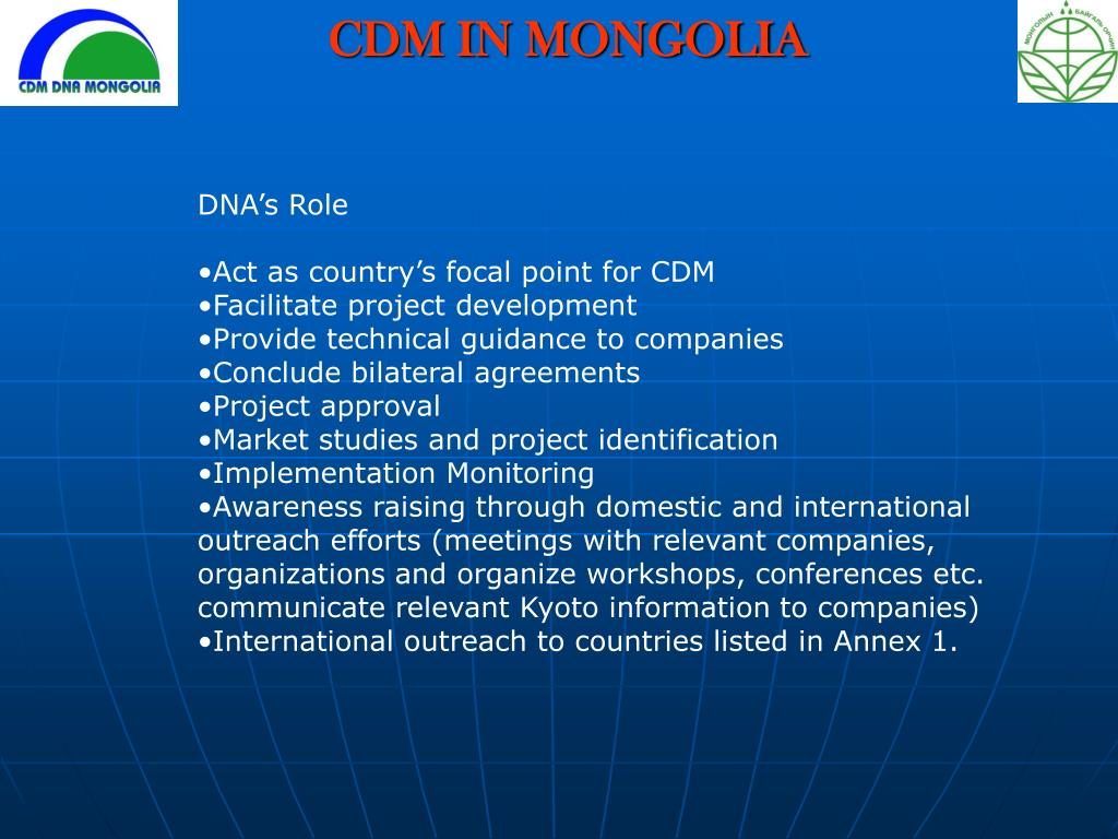 PPT - CDM IN MONGOLIA PowerPoint Presentation - ID:452278