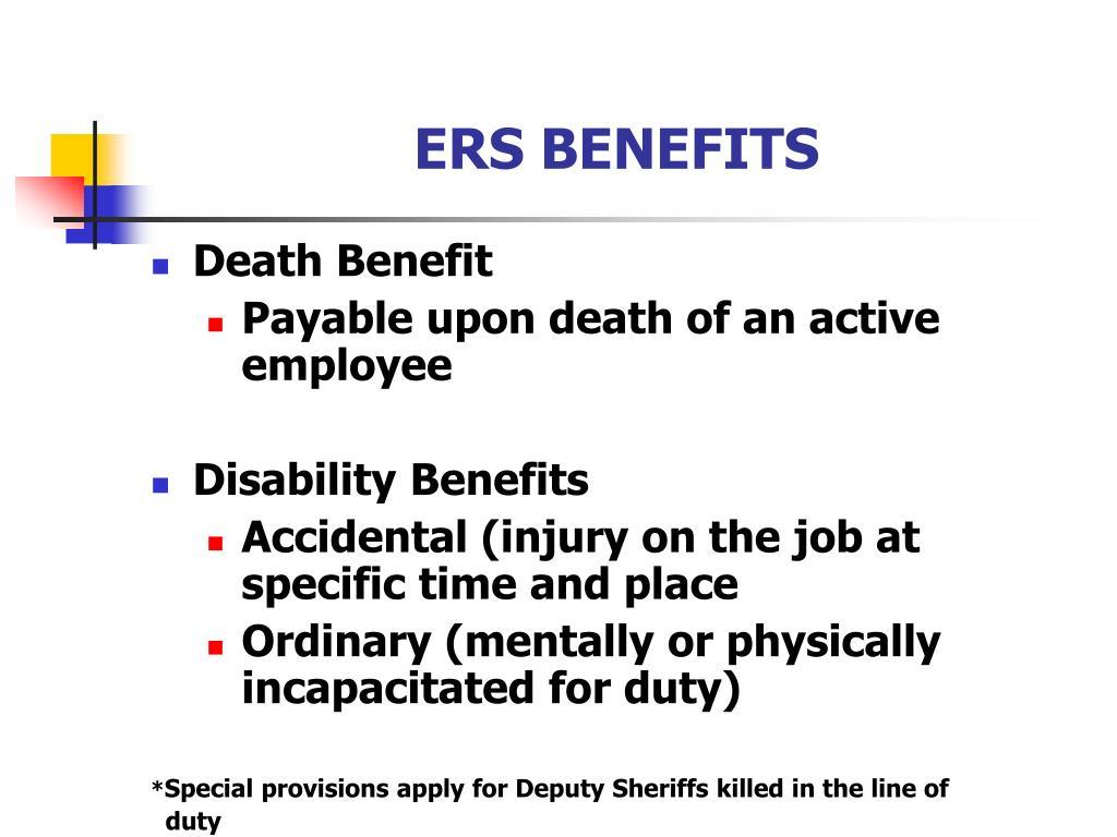 ERS BENEFITS