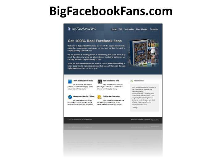 Bigfacebookfans com