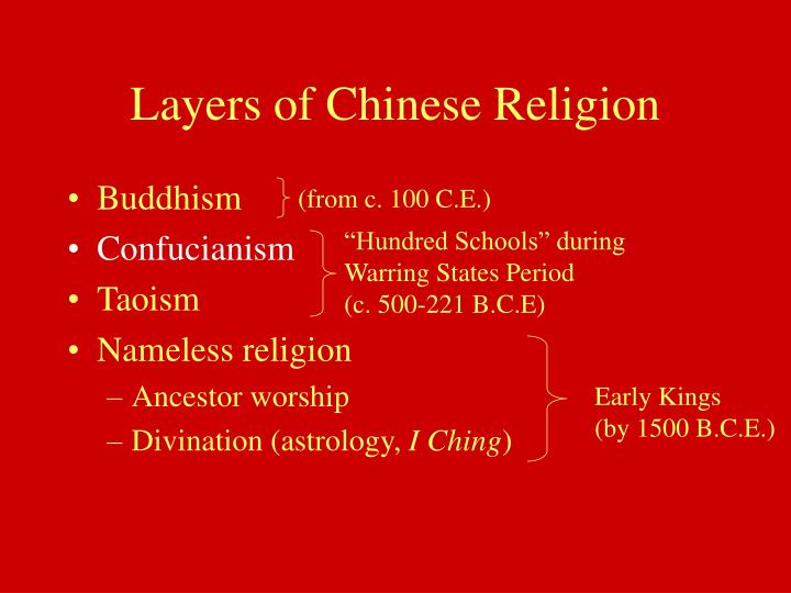 Layers of chinese religion