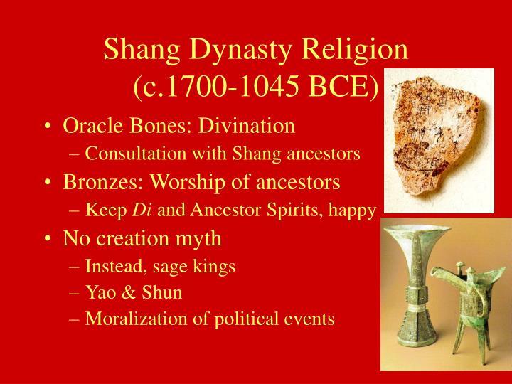 Shang dynasty religion c 1700 1045 bce