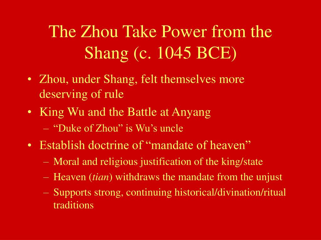 The Zhou Take Power from the Shang (c. 1045 BCE)