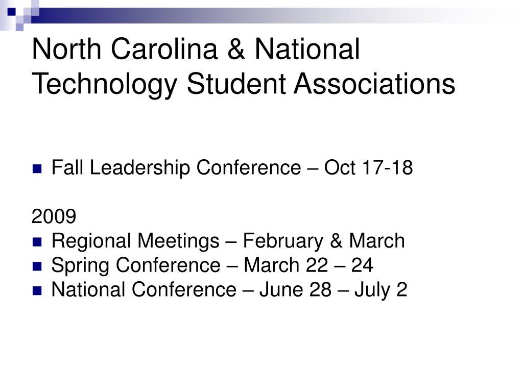 North Carolina & National Technology Student Associations