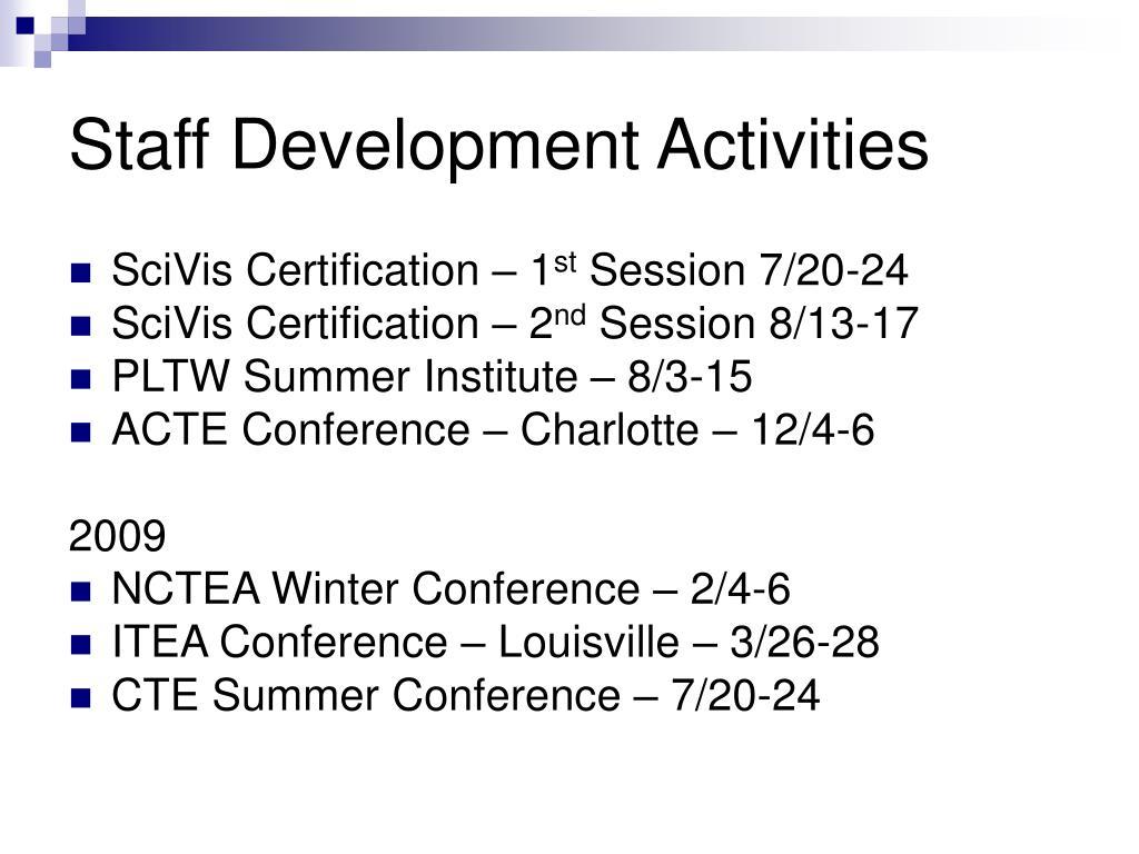 Staff Development Activities