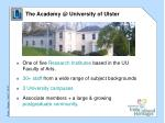 the academy @ university of ulster