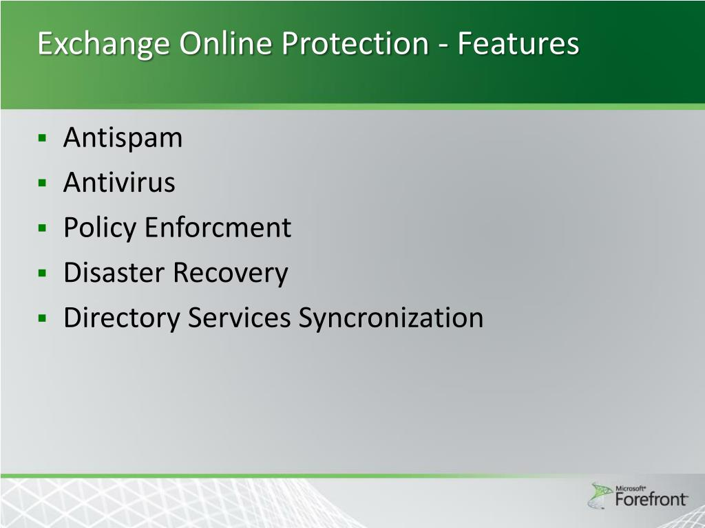 PPT - Forefront Online Protection for Exchange PowerPoint