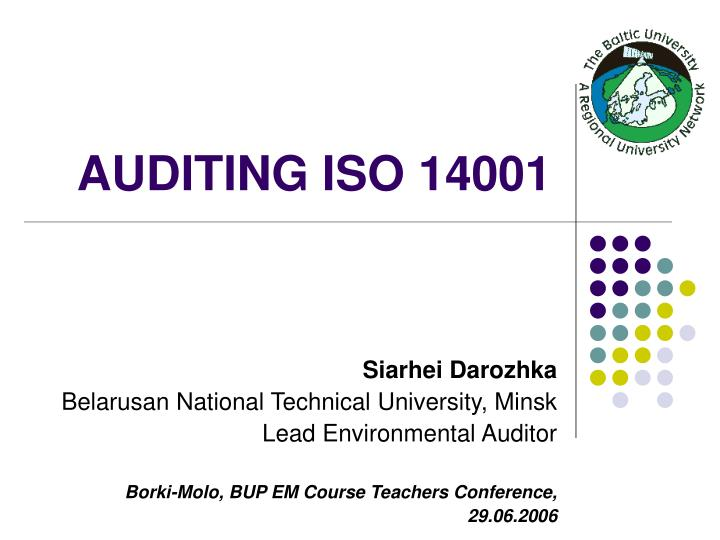 auditing iso 14001