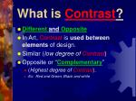 what is contrast