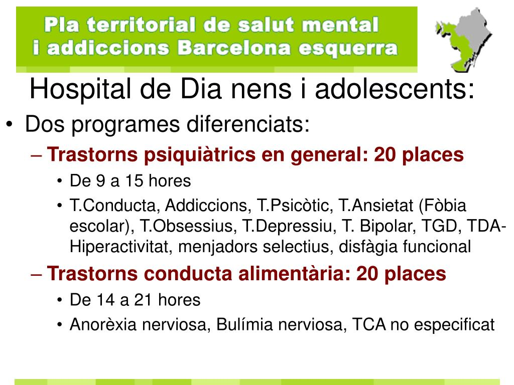 Hospital de Dia nens i adolescents: