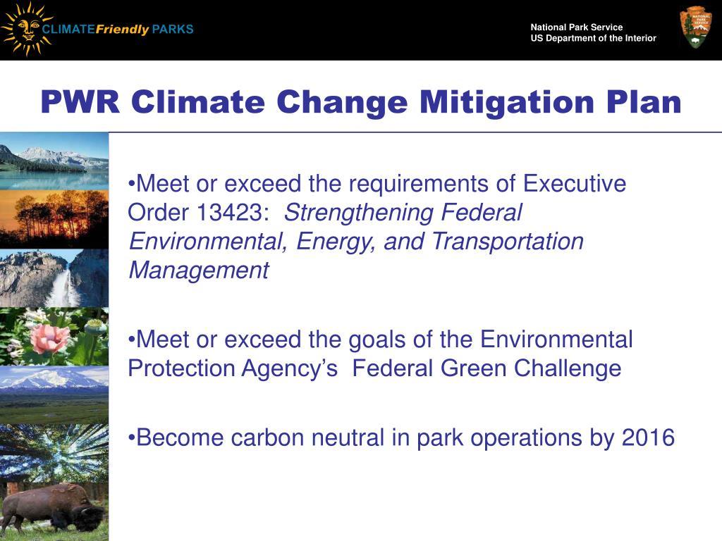 PWR Climate Change Mitigation Plan