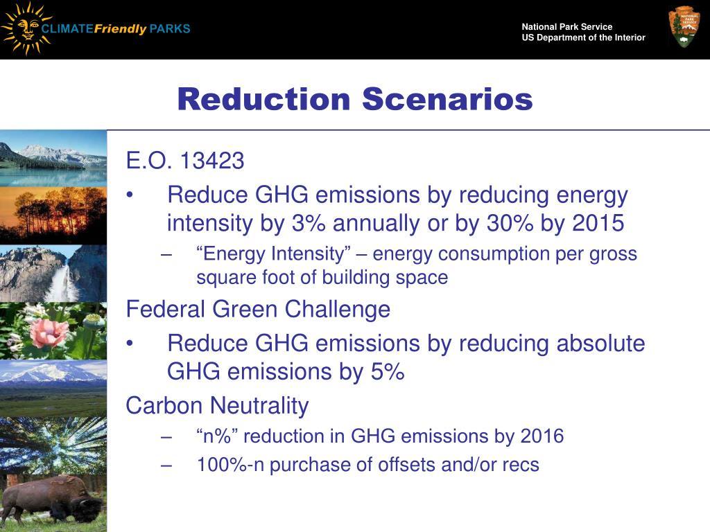 Reduction Scenarios