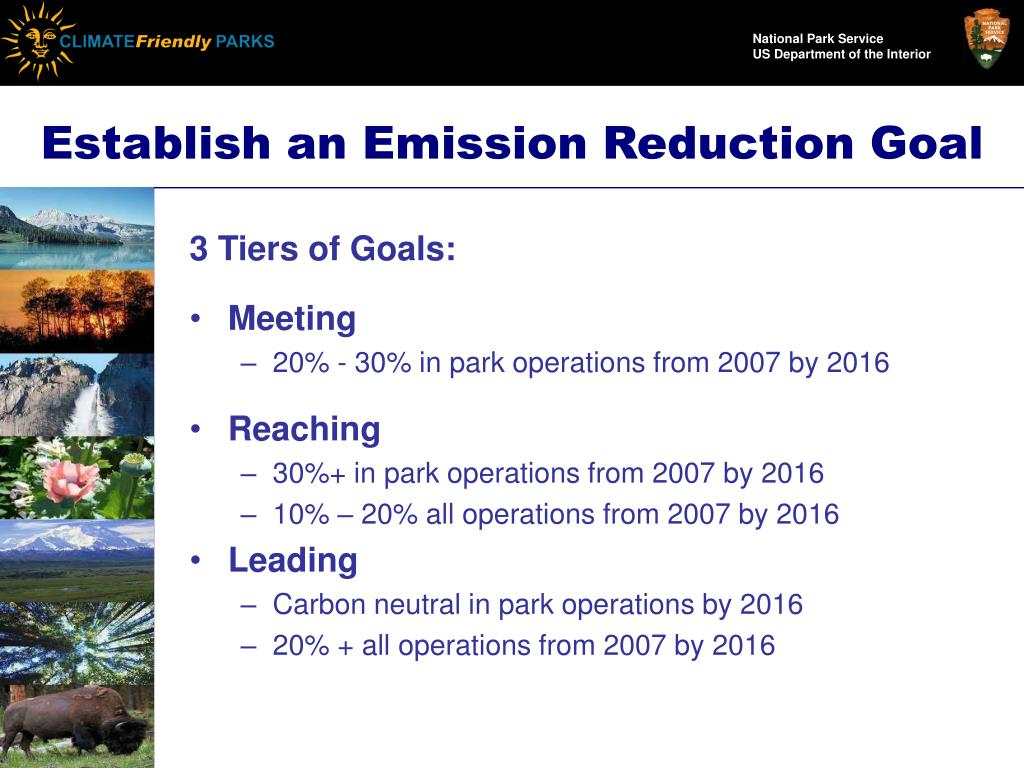 Establish an Emission Reduction Goal
