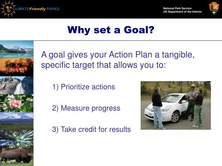 Why set a goal