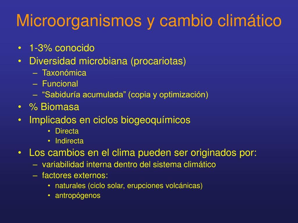 Microorganismos y cambio climático