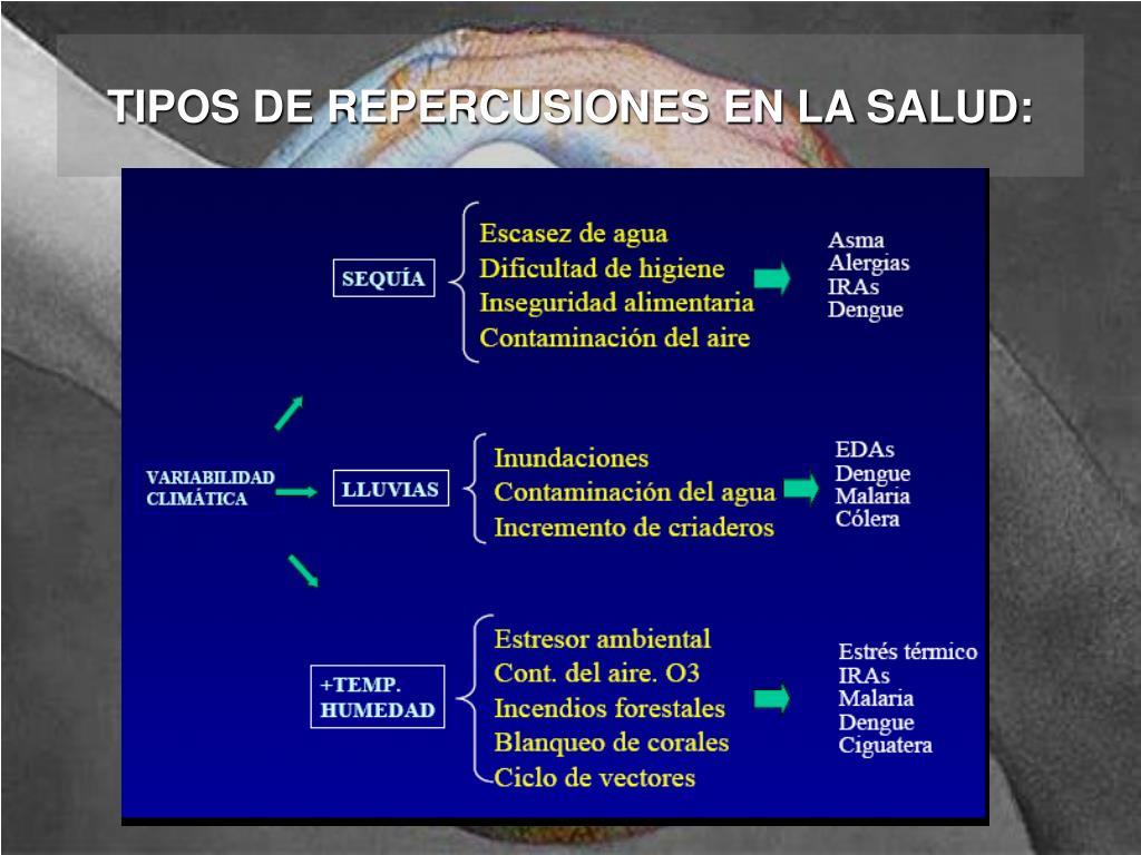 TIPOS DE REPERCUSIONES EN LA SALUD: