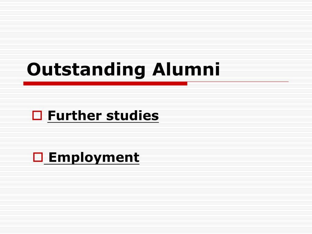 outstanding alumni l.