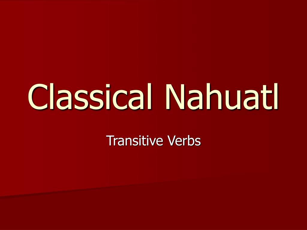 classical nahuatl l.