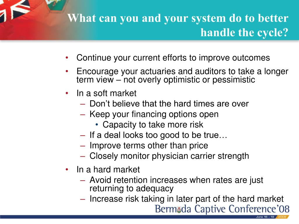 What can you and your system do to better handle the cycle?