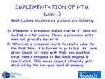 implementation of htm cont7