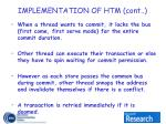implementation of htm cont8