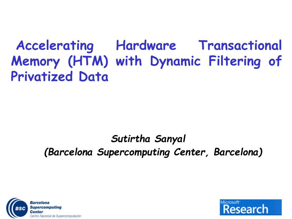 sutirtha sanyal barcelona supercomputing center barcelona
