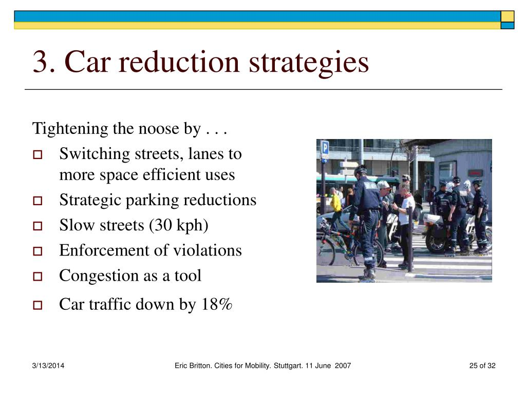 3. Car reduction strategies