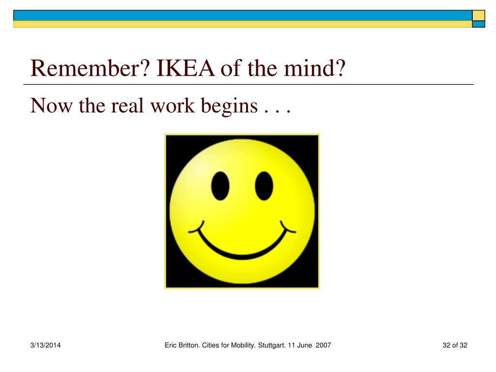Remember? IKEA of the mind?