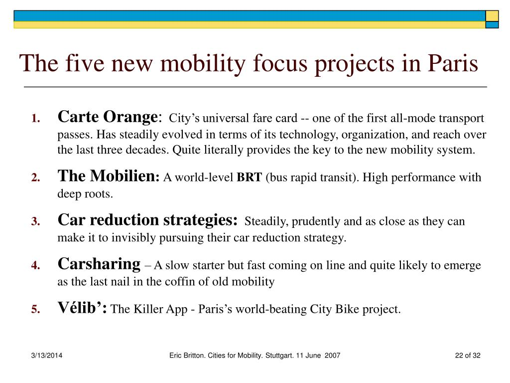 The five new mobility focus projects in Paris