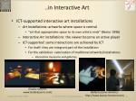 in interactive art