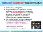 destination imagination program structure