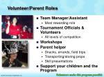 volunteer parent roles