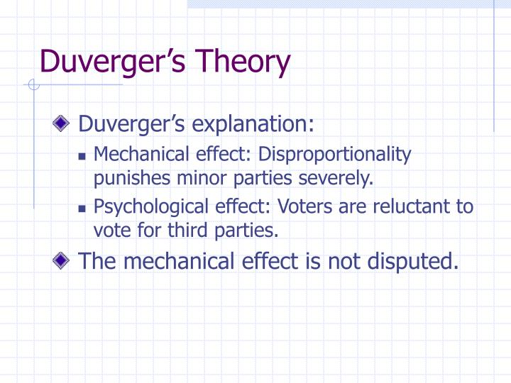 duverger s theory n.