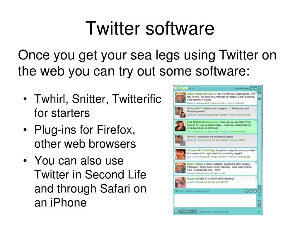 Twitter software