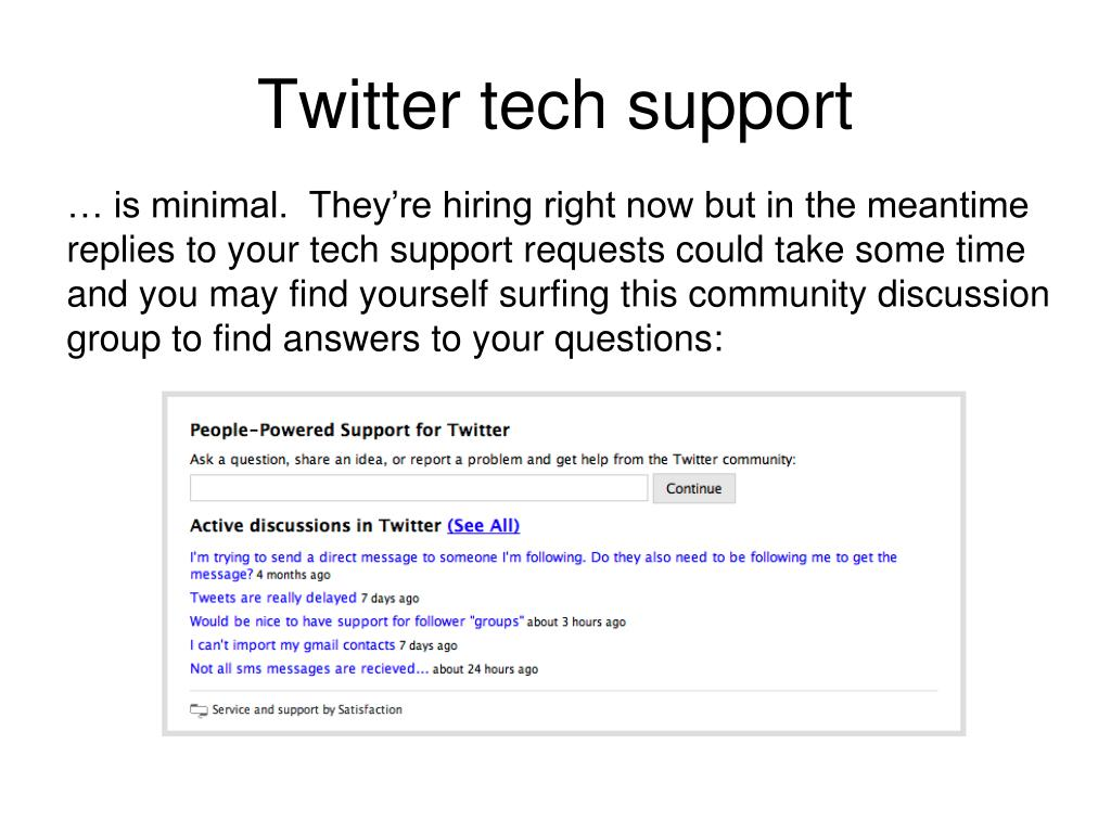 Twitter tech support