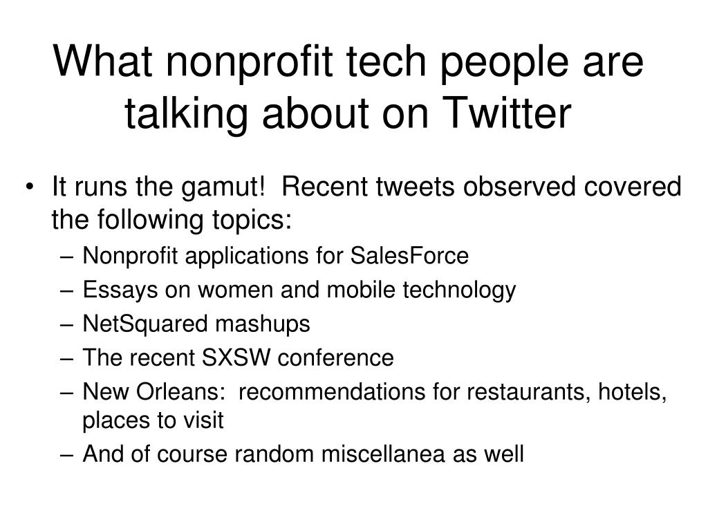 What nonprofit tech people are talking about on Twitter