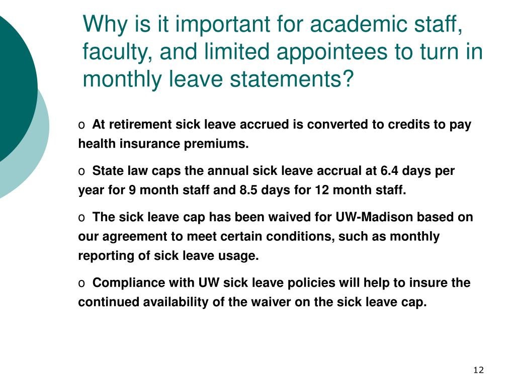 Why is it important for academic staff, faculty, and limited appointees to turn in monthly leave statements?