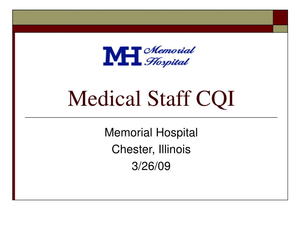 medical staff cqi l.