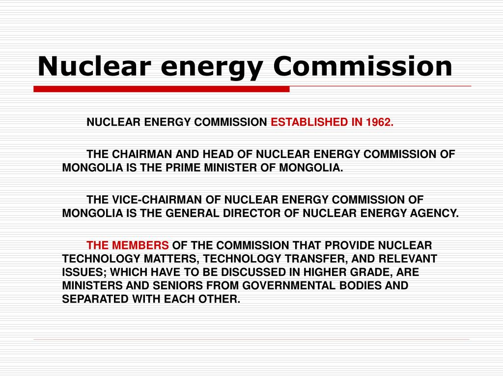 Nuclear energy Commission
